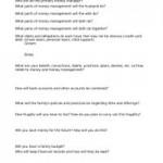 Mini Money Management Questionaire www.virtuousweddings.com
