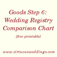 ... Gift Registry Comparison Chart {Free Printable} ~ Virtuous Weddings