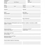 Wedding Information Sheet for Churches www.virtuousweddings.com