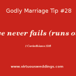Love never fails (runs out). 1 Cor. 13:8.