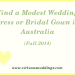 Modest Wedding Dress Guide, Australia, Fall, 2014