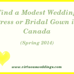 Modest Wedding Dress Guide, Canada, Spring 2014