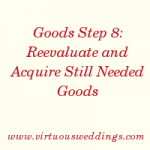 Goods Step 7 (part 3) is the seventh step in a step-by-step guide to acquiring what you need to set up housekeeping.