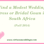 Modest Wedding Dress Guide, South Africa, Fall, 2014
