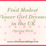 Modest Flower Girl Dress Guide, UK, Spring, 2014