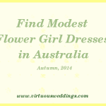 Modest Flower Girl Dresses, Australia, Autumn, 2014