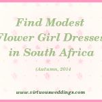 Modest Flower Girl Dresses, South Africa, Autumn, 2014