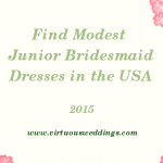 Finding Modest Junior Bridesmaid Dresses in the United States (2015)