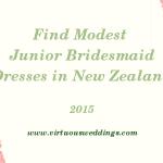 Finding Modest Junior Bridesmaid Dresses in New Zealand (2015)