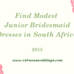 Finding Modest Junior Bridesmaid Dresses in South Africa (2015)