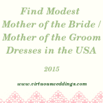 Finding Modest Mother of the Bride and Mother of the Groom Dresses in the United States (2015)