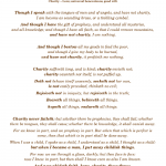 1 Corinthians 13 {free printable} brown, by Virtuous Weddings.