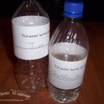 Free printable water bottle labels from Virtuous Weddings