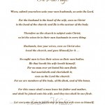 Instruction on Marriage from Ephesians 5 {Free Printable}