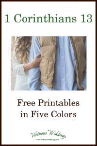 1 Corinthians 13 Free Printables in Five Colors