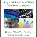 The Goods Steps ~ Step 4: Make a List of What You Need to Acquire