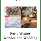 Supplies for a Winter Wonderland Wedding