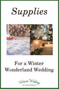 Supplies for a Winter Wonderland Wedding