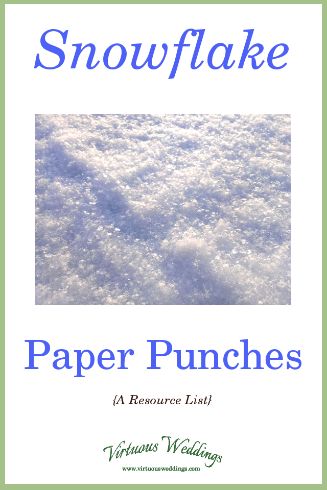 Snowflake Paper Punches (a resource list)
