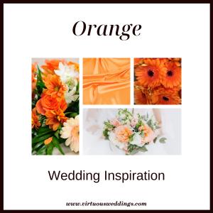 Orange wedding inspiration | www.virtuousweddings.com