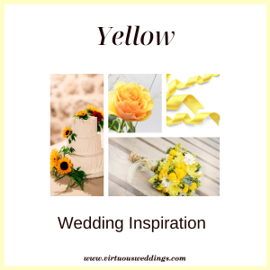Yellow wedding inspiration | www.virtuousweddings.com