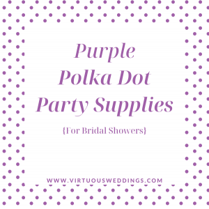 Purple Polka Dot Party Supplies for Bridal Showers
