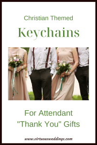Christian Themed Keychains for Attendant Thank You Gifts