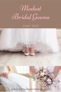 Modest bridal gowns under $500