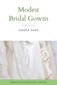 Modest Bridal Gowns Under $600