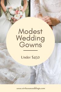 Modest Wedding Gowns Under $450