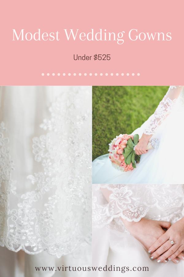 Modest Wedding Gowns Under $525