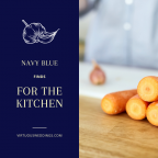 Navy Blue Finds for the Kitchen