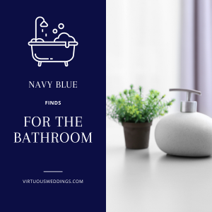 Navy blue finds for the bathroom